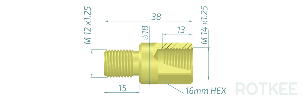 AD-M14-M12 adapter drawing