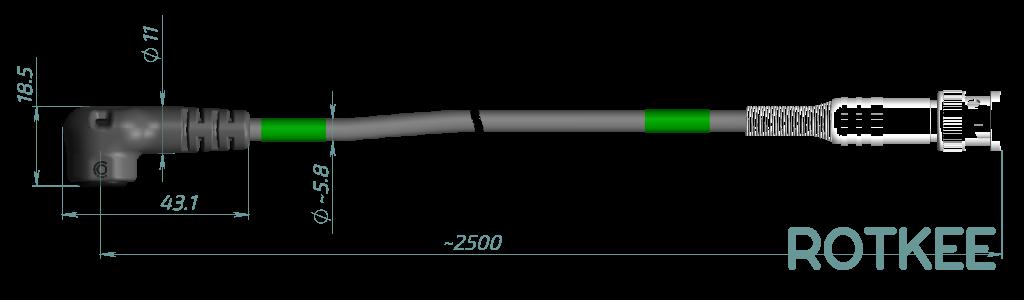 размеры индуктивного датчика Lx1