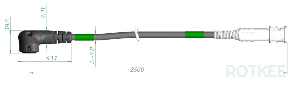 Lx1 inductive sensor drawing