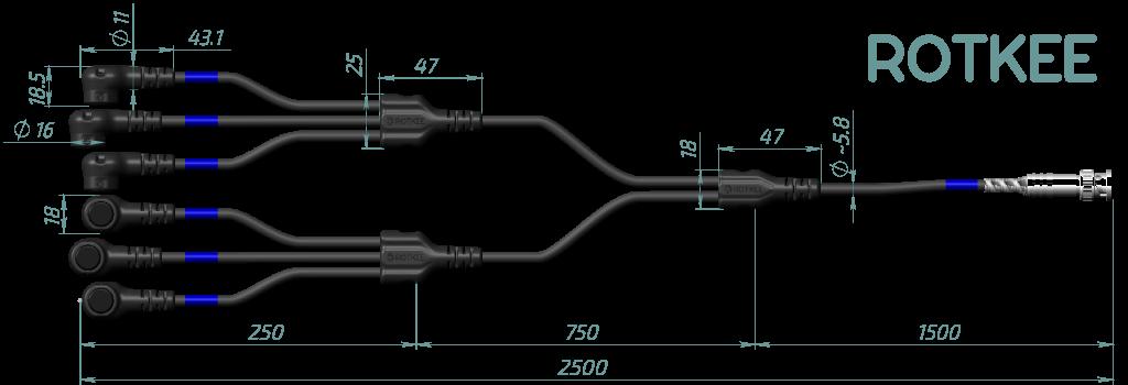 размеры индуктивного датчика Lx6