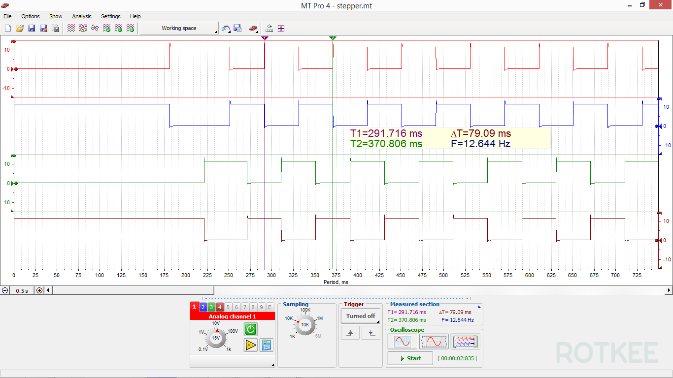 MT Pro 4.1 oscilloscope window screenshot 1