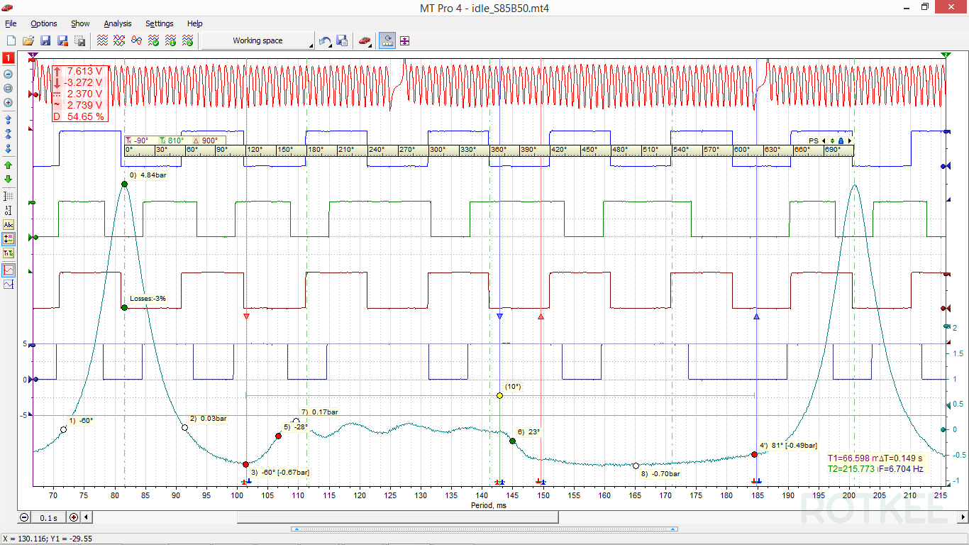 MT Pro 4.1 oscilloscope window screenshot 2