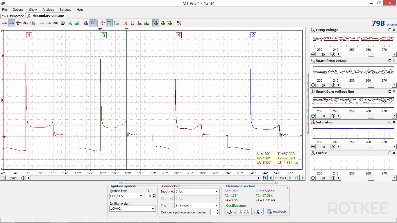 MT Pro 4.1 secondary voltage test screenshot 3