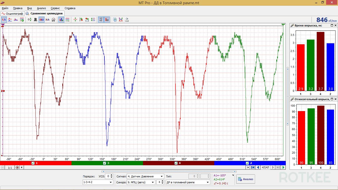 окно сравнение цилиндров MT Pro 4.1 скриншот 3