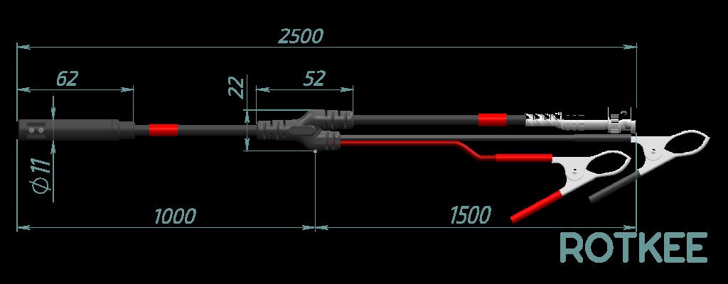 OCS sensor dimensions, drawing